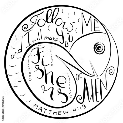 Fishers Of Men Bible Lettering Ichthys Is A Symbol Of Fish The
