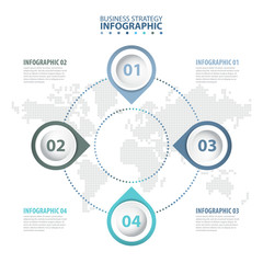 4 steps Business Infographics design template illustration