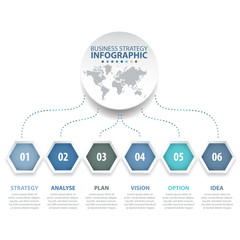 6 modern and clean hexagon design elements Business Infographics