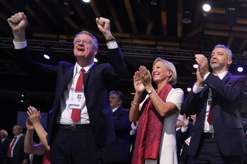 Bernard Lapasset reacts after the ratification of Paris 2024 and Los Angeles 2028 host cities for Olympic games during the 131st IOC session in Lima