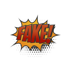 Isolated abstract speech balloons icon on white background. Business / Technology Fake News cartoon style