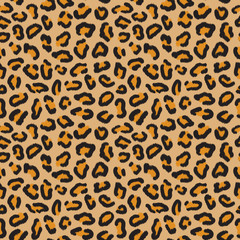 Leopard seamless pattern. Leopard spots. Fashion cheetah print. Popular texture.