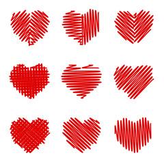 Crosshatching Valentines Set