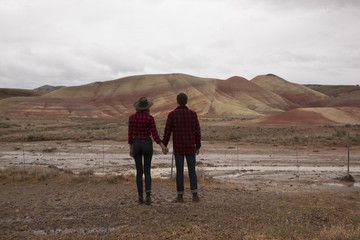 Couple At Painted Hills Oregon