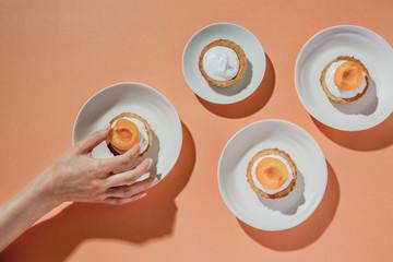 Making vegan apricot tart