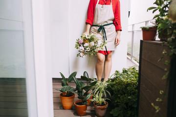 Florist Holding a Flower Bouquet