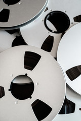 Reel of magnetic tape background