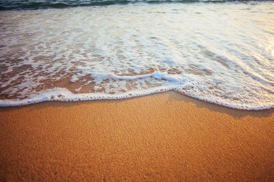 Water rushing onto Beach