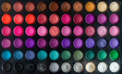 Colorful make-up set background