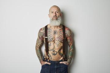Man With Tatoo Studio Portraits