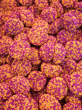 gummy candy covered with nonpareils