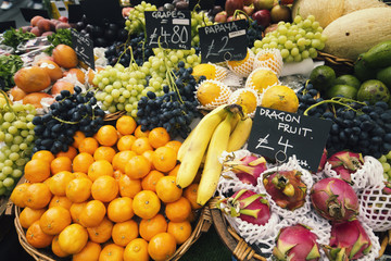 Selection of Various Fruits on Indoor Market