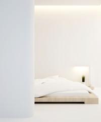 bedroom in apartment or home,Interior Design - 3D Rendering
