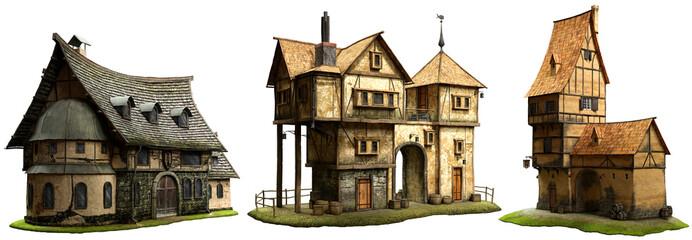 Fantasy buildings Wall mural