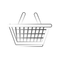 shopping basket icon image vector illustration design  black line