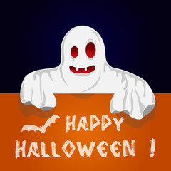 Halloween Ghost with text