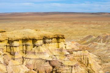 Flaming Cliffs Bayanzag Plateau Horizon Mongolia