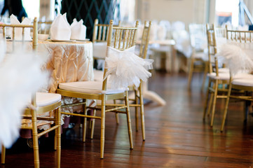 wedding chair decoration / table food
