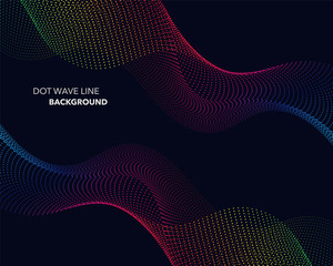 Elegant abstract vector spectrum rainbow gradient wave dot line futuristic style background