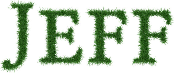 Jeff - 3D rendering fresh Grass letters isolated on whhite background.