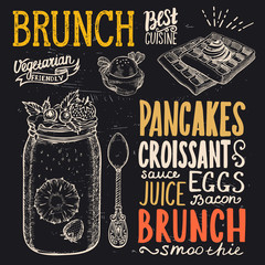 Brunch poster for restaurant.
