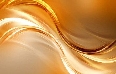 Gold waves backdrop. Flow abstract background.