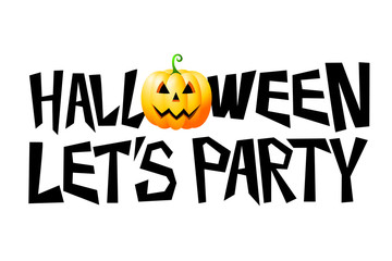 Halloween card - let's party