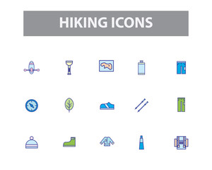 Hiking Vector Icons