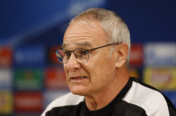 Leicester manager Claudio Ranieri during the press conference