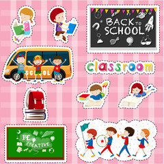 Sticker design for students and school items