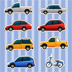Sticker design for different kinds of vehicles