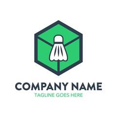 Unique Badminton Logo Template