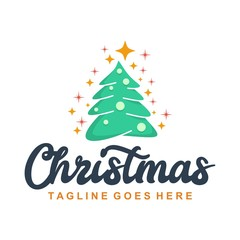 Unique Christmas Logo Template
