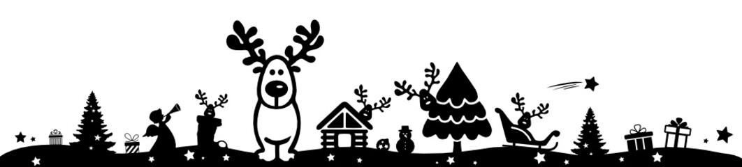 Rendeer in Winter Forest