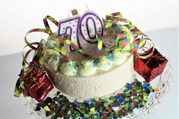 An image of a birthday cake - 70 birthday