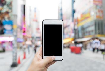 smart phone in akihabara