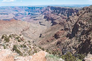 Lifeless stone desert. Grand Canyon National Park, Arizona, USA