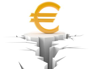 Euro currency problem concept