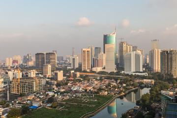 Jakarta urban skyline in Indonesia
