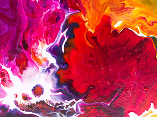 Abstract bright hand painted background.
