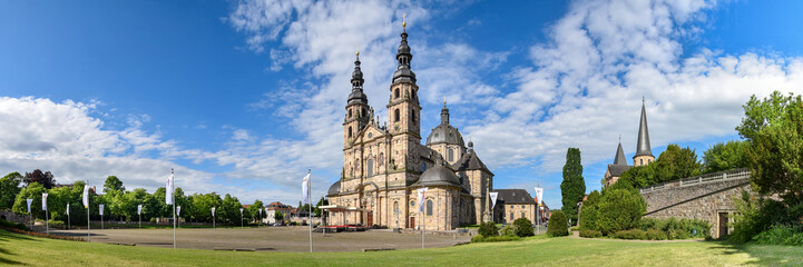 Panoramafoto Dom und Michaelskirche in Fulda Fototapete