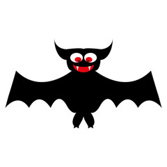 cartoon bat on white background