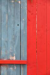 Planches rouges et bleues