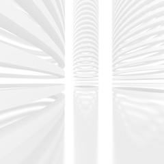 Futuristic white architecture background. 3D rendering
