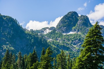 The mountains landscape view at North Cascades National Park, Washington, USA