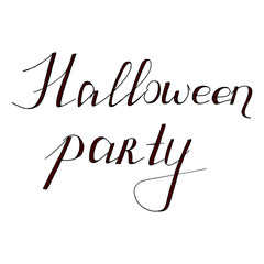 Hand Drawn Halloween Set. Lettering. Halloween party.
