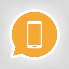 Gelbe Sprechblase - Smartphone