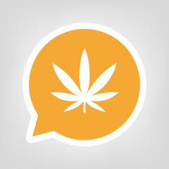 Gelbe Sprechblase - Marihuana