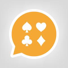 Gelbe Sprechblase - Spielkarten-Symbole