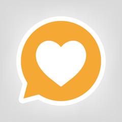 Gelbe Sprechblase - Herz